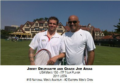 Jimmy Delevante and Coach Joe Arias